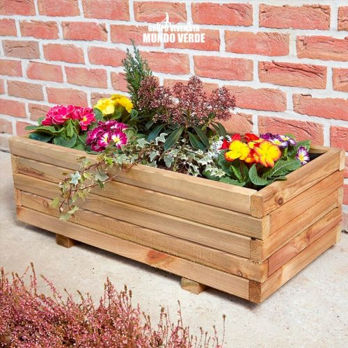 Maceta de madera tipo jardinera